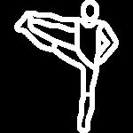 Stretching icon man